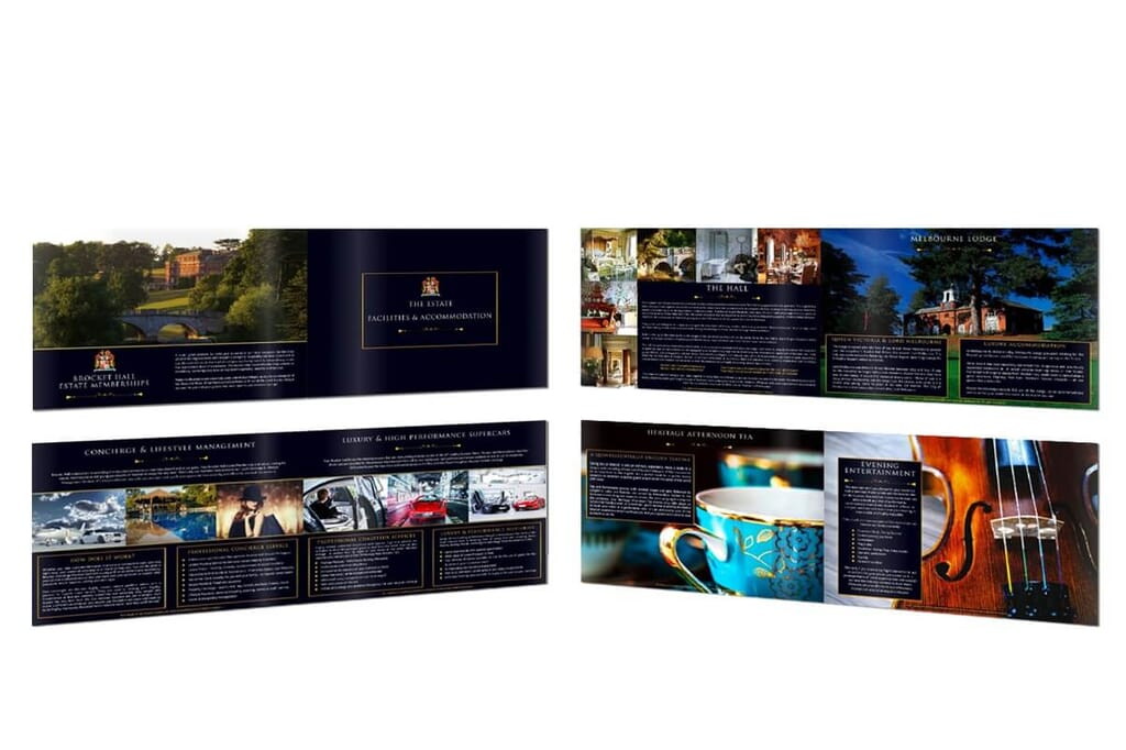 luxury brochure layout portfolio item