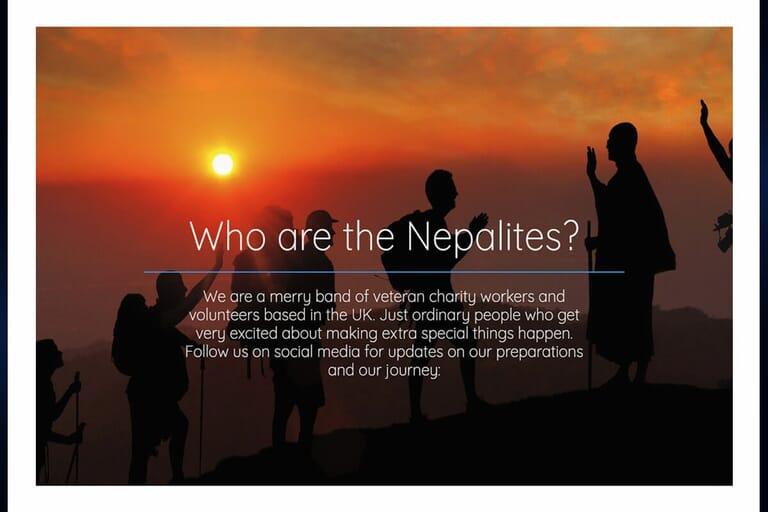 Charity campaign website page portfolio item