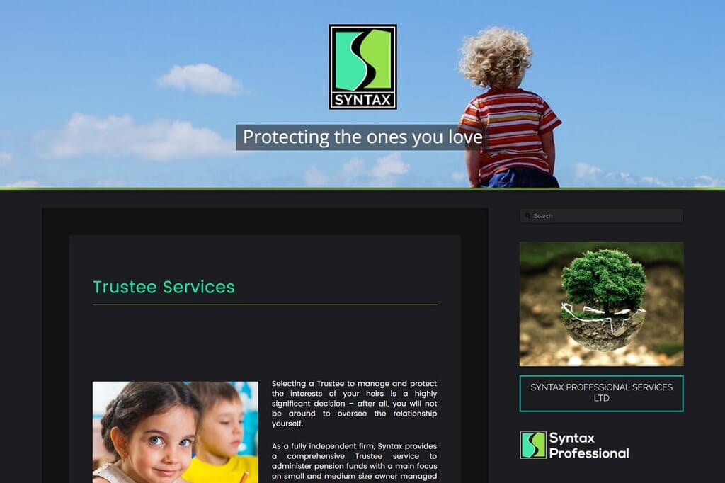 website page portfolio item