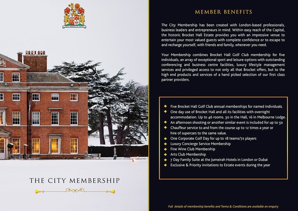 luxury print brochure page portfolio item showing stately home