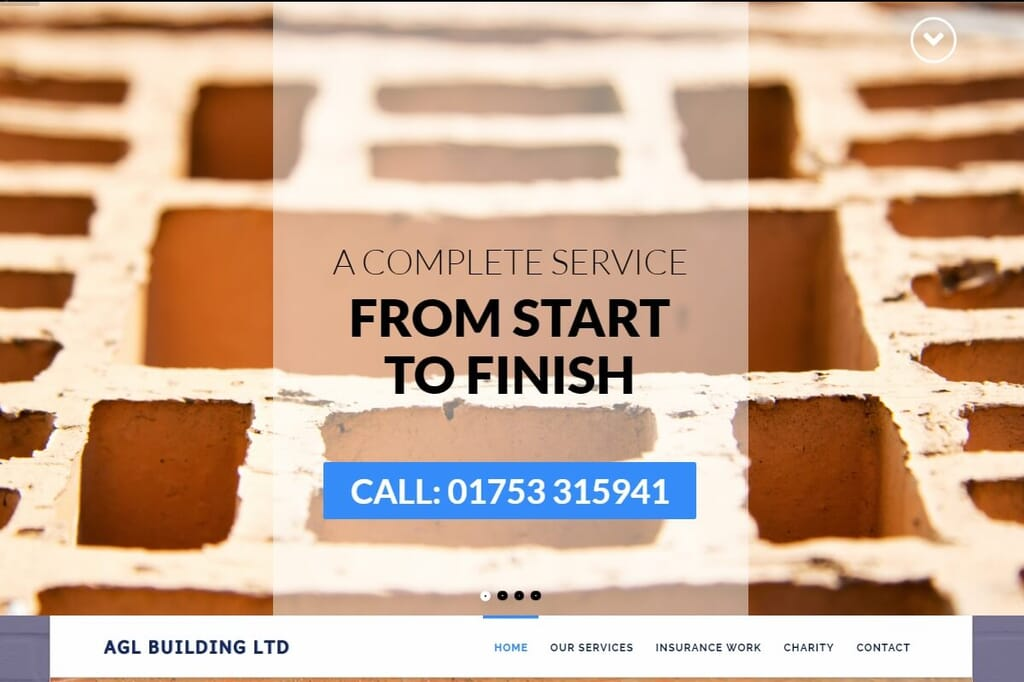 screenshot of website hero image and strapline