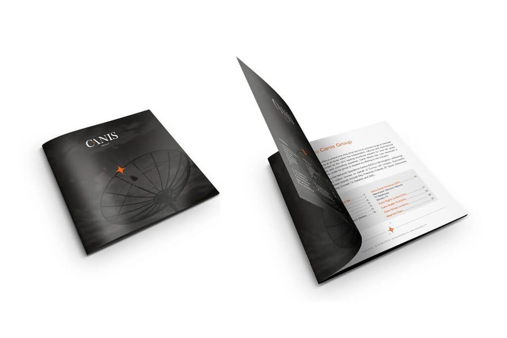 mockup of brochures