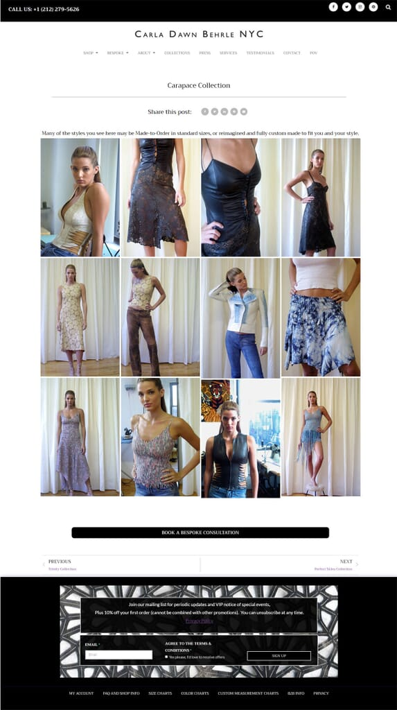 Carapace leather wear Collection by Carla Dawn Behrle