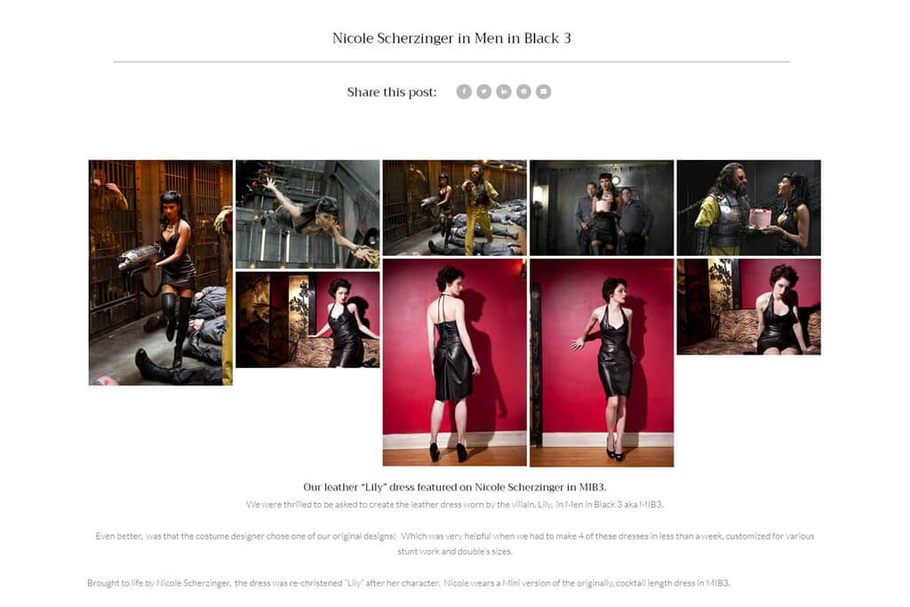 Carla D Behrle Nicole Scherzinger MIB3 leather dress